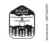pilot training academy emblem... | Shutterstock .eps vector #1807360507