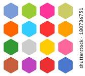 16 blank icon set hexagon web...