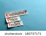 cpi   consumer price index on... | Shutterstock . vector #180737171