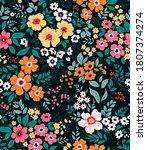 trendy seamless vector floral... | Shutterstock .eps vector #1807374274