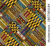 tribal african style fabric... | Shutterstock .eps vector #1807383184
