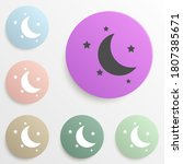 half moon and stars badge color ...