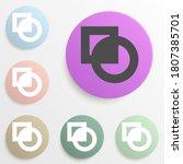 cut sign badge color set....