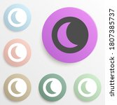 half moon in round badge color...