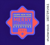 happy new year and merry... | Shutterstock .eps vector #1807391461