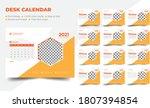 desk calendar 2021 template ... | Shutterstock .eps vector #1807394854