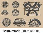 woodwork badge. vintage vector...   Shutterstock .eps vector #1807400281