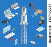 wireless technology.... | Shutterstock .eps vector #1807400284