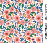 beautiful floral pattern in...   Shutterstock .eps vector #1807401991
