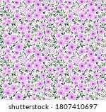 cute floral pattern in the... | Shutterstock .eps vector #1807410697