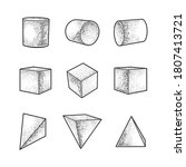 set of geometric shapes... | Shutterstock .eps vector #1807413721