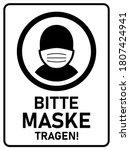 """bitte maske tragen  """"please...   Shutterstock .eps vector #1807424941"""