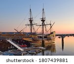 Mayflower Docked At Plymouth...