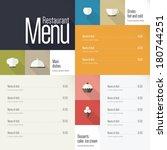 restaurant menu. flat design | Shutterstock .eps vector #180744251