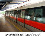 An Mrt Train In Singapore