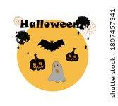 set of halloween  witch ... | Shutterstock .eps vector #1807457341