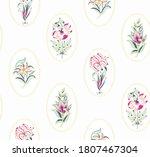 botanical floral seamless...   Shutterstock .eps vector #1807467304