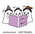 cartoon cute halloween day ... | Shutterstock .eps vector #1807504081