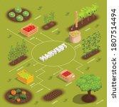 farming harvesting isometric... | Shutterstock .eps vector #1807514494