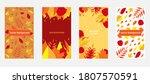 set of abstract autumn... | Shutterstock .eps vector #1807570591
