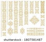 set of golden decorative... | Shutterstock .eps vector #1807581487