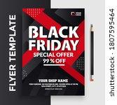 flyer template for black friday ... | Shutterstock .eps vector #1807595464