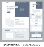 website landing page design for ... | Shutterstock .eps vector #1807600177
