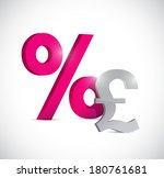 pound currency and percentage... | Shutterstock . vector #180761681