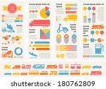 flat transportation infographic ...   Shutterstock .eps vector #180762809