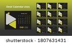desk calendar 2021 template... | Shutterstock .eps vector #1807631431