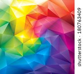 abstract polygonal gems colors... | Shutterstock .eps vector #180763409