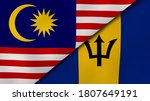 Two States Flags Of Malaysia...