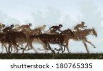 Painting Of Jockeys And Horses...
