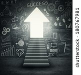 Success entrance  stairways to...