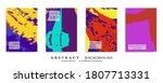 abstract backgrouns set  grunge ... | Shutterstock .eps vector #1807713331