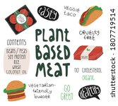plant based meat meals like... | Shutterstock .eps vector #1807719514