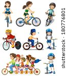 illustration of the people... | Shutterstock .eps vector #180776801