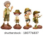 illustration of a family of... | Shutterstock .eps vector #180776837