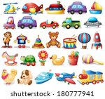 illustration of the collection... | Shutterstock .eps vector #180777941