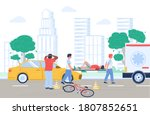 bicycle accident cyclist... | Shutterstock .eps vector #1807852651