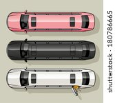 Three long luxury limousine for special occasions. - stock vector