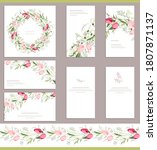 square greeiting card with... | Shutterstock .eps vector #1807871137