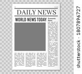 newspaper pages template. news... | Shutterstock .eps vector #1807896727