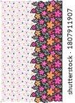 flower pattern for fabric print ... | Shutterstock .eps vector #1807911907