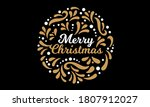 merry christmas greeting. xmas... | Shutterstock .eps vector #1807912027