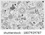 casino doodle set. collection... | Shutterstock .eps vector #1807929787