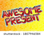 awesome present comic book... | Shutterstock .eps vector #1807946584