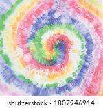 rainbow tie dye swirl. vector... | Shutterstock .eps vector #1807946914