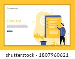 to do list concept landing page ...