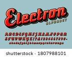 electron retro script alphabet  ...   Shutterstock .eps vector #1807988101